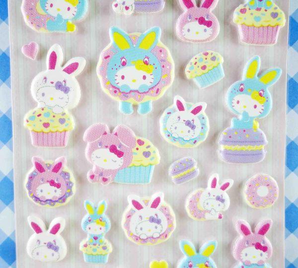【震撼精品百貨】Hello Kitty 凱蒂貓~KITTY立體貼紙-兔子