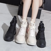短靴/馬丁靴-短靴子女年秋款帥氣馬丁靴春秋單英倫風帆布秋季秋鞋新款女鞋  多麗絲