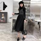 吊帶裙 秋裝2020年新款女冬時尚減齡收腰顯瘦氣質洋裝洋氣兩件套裝裙子 開春特惠