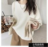顯瘦直紋慵懶風寬鬆針織毛衣Z11284   【全館免運】