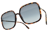 Dior 太陽眼鏡 SOSTELLAIRE1 EPZ1I (琥珀-漸層藍鏡片) 時尚大方框造型款 墨鏡 #金橘眼鏡