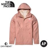 【The North Face 女 DV防水化纖保暖兩件式外套(可套式)《粉紅》】4NFB/衝鋒衣/防水外套/風雨衣