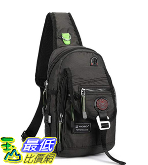 [8美國直購] 斜挎包 Nicgid Sling Bag Chest Shoulder Backpack Crossbody Bags for iPad Tablet Outdoor Hiking Men Women