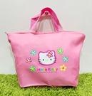【震撼精品百貨】Hello Kitty 凱蒂貓~日本三麗鷗 kitty 造型手提袋/側背袋-粉花#35517