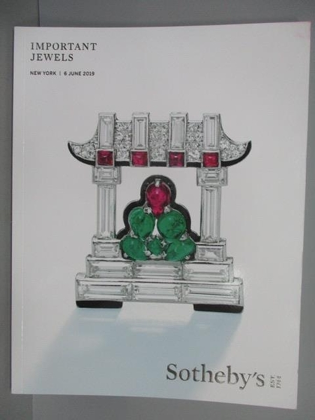 【書寶二手書T8/收藏_FOI】Sotheby s_Important Jewels_2019/6/6
