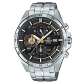 CASIO EDIFICE 都會時尚西裝穿搭指針腕錶-黑X金(EFR-556D-1A)