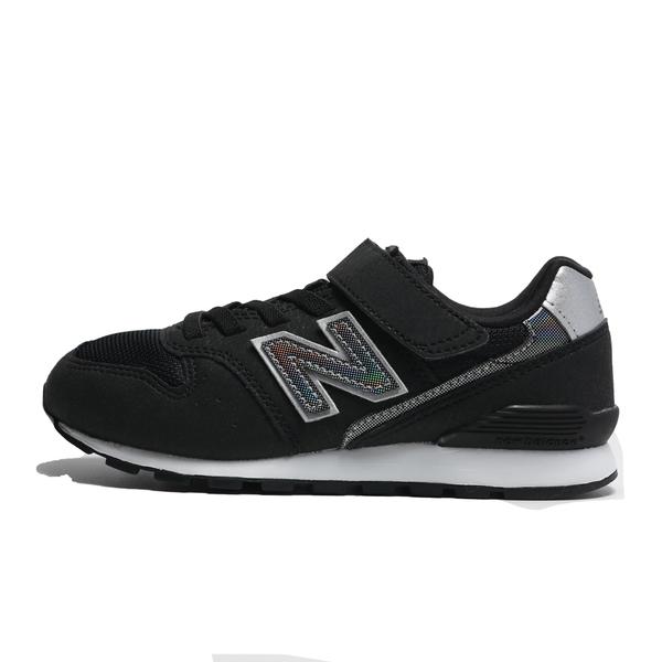 NEW BALANCE 童鞋 996 黑 鐳射LOGO 魔鬼氈 休閒鞋 中童 (布魯克林) YV996HBK