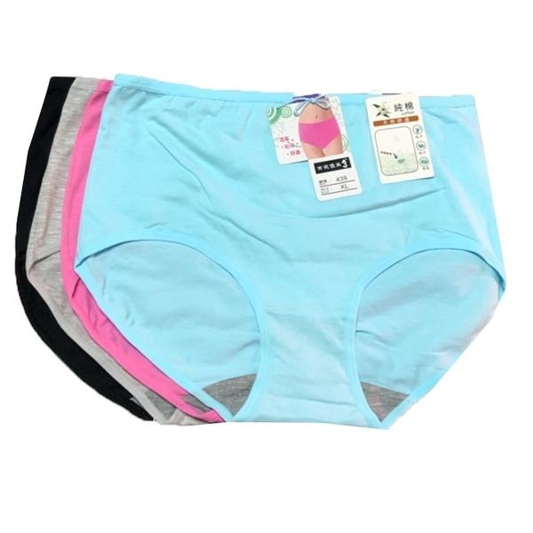吉妮儂來6件組439舒適加大尺碼平口棉褲 隨機取色