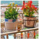 鐵藝陽台花架欄杆花架護欄掛式花盆架懸掛吊籃綠蘿架
