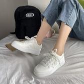 小白鞋 加絨運動帆布小白板鞋女ins街拍潮鞋2020年新款秋冬季百搭棉鞋【快速出貨八折下殺】