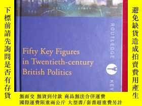 二手書博民逛書店Fifty罕見Key Figures in Twentieth-
