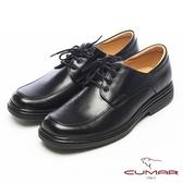 CUMAR流線感●小牛皮光澤綁帶氣墊鞋-光澤黑