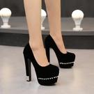 高跟鞋 15CM淺口高跟鞋 歐美2020春季新款女鞋超高跟單鞋 降價兩天