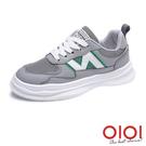 休閒鞋 新潮話題撞色綁帶休閒鞋(灰) *0101shoes【18-M37gy】【現+預】