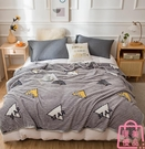單人毛毯被子珊瑚毯子加厚保暖冬季法蘭絨床...