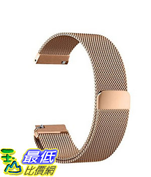 [美國直購] Oitom 玫瑰金 L 6.7吋-9.1吋 不鏽鋼錶帶 Samsung Gear S3 Classic/Gear S3 Frontier Stainless Steel Watch Band