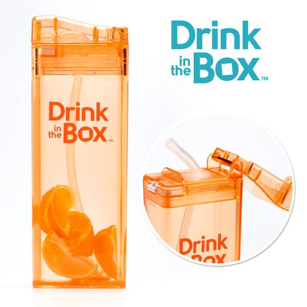 Drink in the box 加拿大 兒童戶外方形吸管水杯 / 水壺 355ml -水果橘