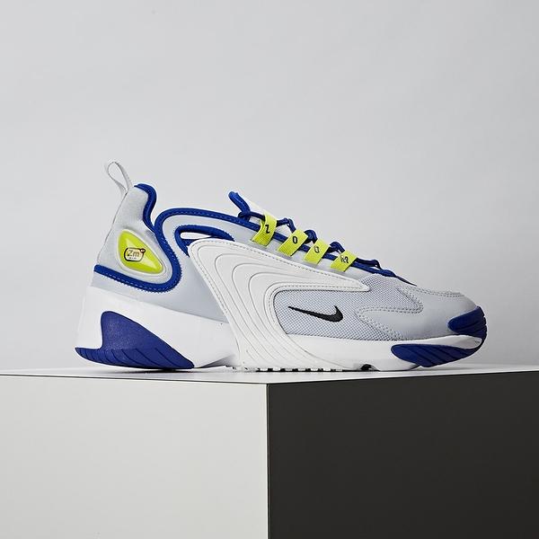 Nike Zoom 2k 男款 白藍 經典 復古 休閒鞋 AO0269-011