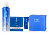 KOSE 買雪肌精沁涼緊緻氣泡露150g 贈雪肌精水面膜9ml+雪肌精淨透洗顏霜25g+高品質化粧棉