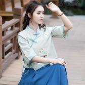 民族風女裝中式改良漢服上衣