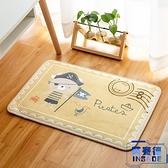 吸水防滑腳墊印花卡通可愛門墊臥室廚房浴室衛生間【英賽德3C數碼館】