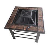 陶瓷戶外燒烤桌5人以上碳烤爐餐桌式茶幾燒烤架家用木炭燒烤爐子igo 沸點奇跡