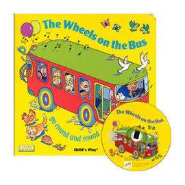 ★最夯的暑期繪本!!★廖彩幸書單『輕鬆聽出英語力- 第1週』- THE WHEELS ON THE BUS /書+CD
