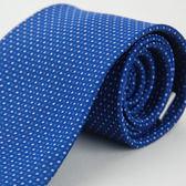 【Alpaca】藍底藍白圓點領帶