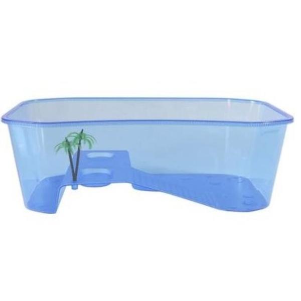 半透明養殖池烏龜缸水陸缸水龜帶曬臺養龜箱兩棲攜帶大烏龜塑料箱 8號店WJ