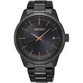 【台南 時代鐘錶 SEIKO】精工 SPIRIT 太陽能電波腕錶 SPP003J1@7B24-0BR0K 黑鋼 40mm