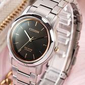 【公司貨保固】CITIZEN 星辰 Eco-Drive 輕量鈦金屬光動能時尚女錶 FE7024-84E