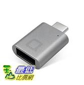 [美國直購] nonda 轉接頭 金/銀/灰 三色 USB-C to USB 3.0 Mini Adapter Aluminum Body with Indicator LED