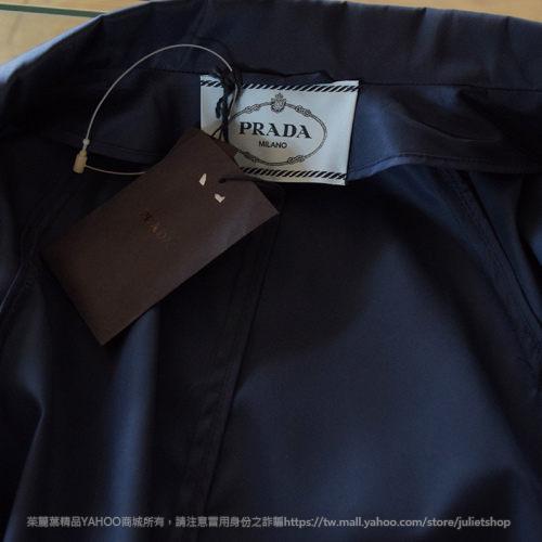 茱麗葉精品【全新現貨】PRADA 簡約英倫風高貴典雅風衣洋裝外套.深藍