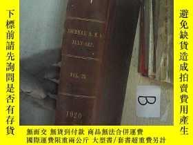 二手書博民逛書店JOURNAL罕見AMA JULY SEP 1920 VOL.7