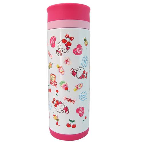 Hello Kitty 真空保溫瓶/隨手杯 (繽紛白)-350ml-KF-5605W