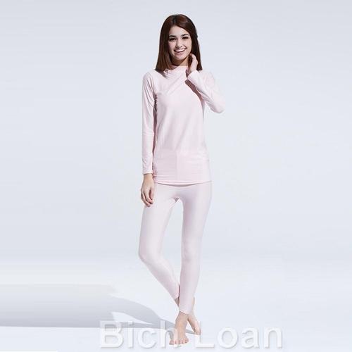 【南紡購物中心】 Bich Loan居家外穿兩用衛生衣褲組-粉紅