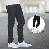 牛仔褲 亮色車線原色單寧小直筒牛仔褲長褲【N9785J】