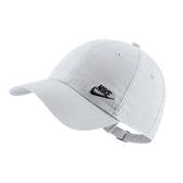 NIKE 運動帽 NSW 白 小LOGO 刺繡 可調式 棒球帽 老帽 男女(布魯克林) AO8662-101