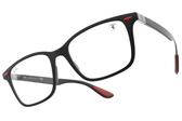 RayBan光學眼鏡RB7144M F602 (霧黑-紅) 法拉利聯名x低調造型款 # 金橘眼鏡