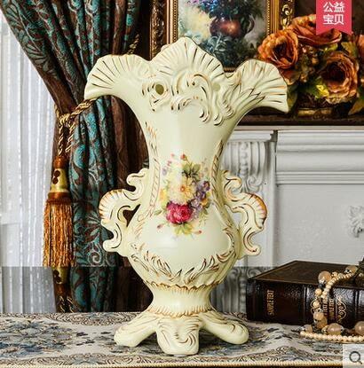 設計師美術精品館歐式花瓶擺件陶瓷插花瓷器客廳電視櫃小大花瓶花器裝飾乾花插花藝