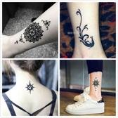 紋身貼 刺青 50張紋身貼防水女持久韓國仿真手臂腳踝男個性圖騰刺青貼紙黑暗系