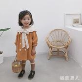 女童秋季洋裝連身裙韓版寬鬆洋氣中小童娃娃領兒童寶寶小女孩公主裙子DF514【極致男人】
