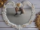 浴室梳妝鏡 裝飾鏡 超大尺吋 防水 漂亮小愛心