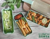 日式微波爐飯盒便當盒學生帶蓋可愛三層食堂簡約分格減脂健身餐盒【櫻花本鋪】