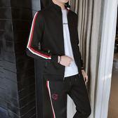 運動套裝 運動套裝男韓版潮流衛衣青少年學生男士休閑開衫外套