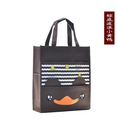 帆布包 新款韓版卡通書袋A4美術包 中小學生防水帆布補課包手提袋補習袋 年尾牙提前購