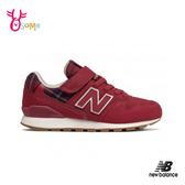 New Balance 996 LIFESTYLE 中童 格紋聖誕 慢跑鞋 復古 寬楦 輕量運動鞋 P8451#紅色◆OSOME奧森鞋業