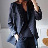 西裝外套 魅力西裝外套+條紋九分褲套裝 艾爾莎【THB7192】