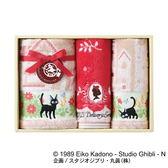 尼德斯Nydus 日本正版 宮崎駿 魔女宅急便 琪琪 黑貓吉吉 可愛造型 毛巾組禮盒