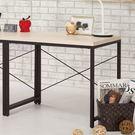 【森可家居】塔利斯2.7尺書桌(單只) 8CM877-4 簡易桌 工業風